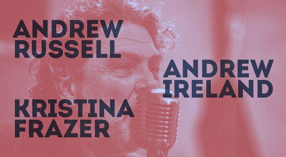 Andrew Russell, Andrew Ireland & Kristina Frazer   Hotel Blue