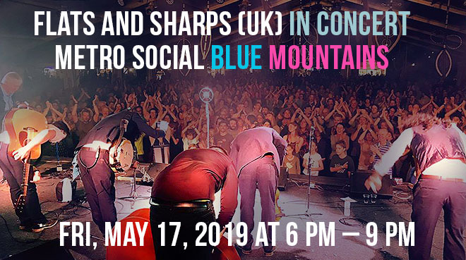 Flats and Sharps (UK) in concert Metro Social Blue Mountains