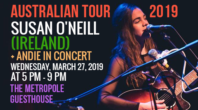 SON – Susan O'Neill (Ireland) + Andie in concert Blue Mountains