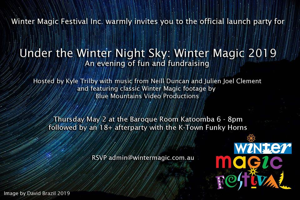 Launch party for Winter Magic 2019 – under the winter night sky!
