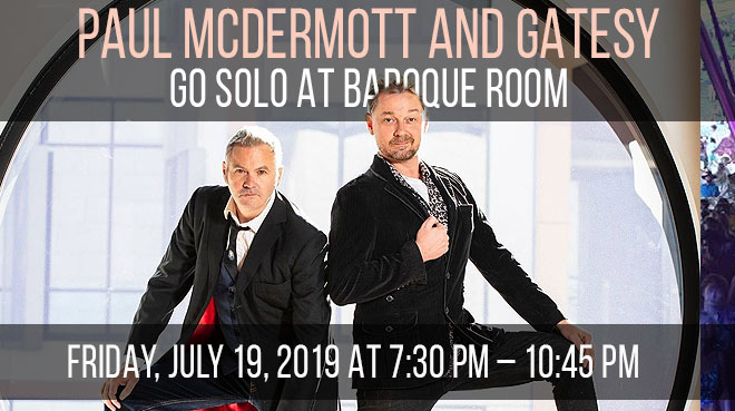 Paul McDermott and Gatesy Go Solo | Baroque Room