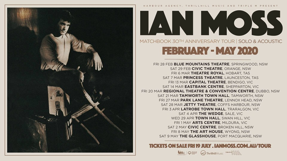 Ian Moss – Matchbook 30th Anniversary Tour. Solo & Acoustic | Blue Mountains Theatre and Community Hub