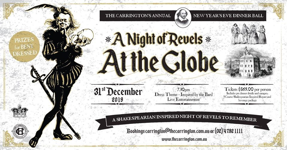 New Years Eve Ball – A Night at the Globe   The Carrington Hotel