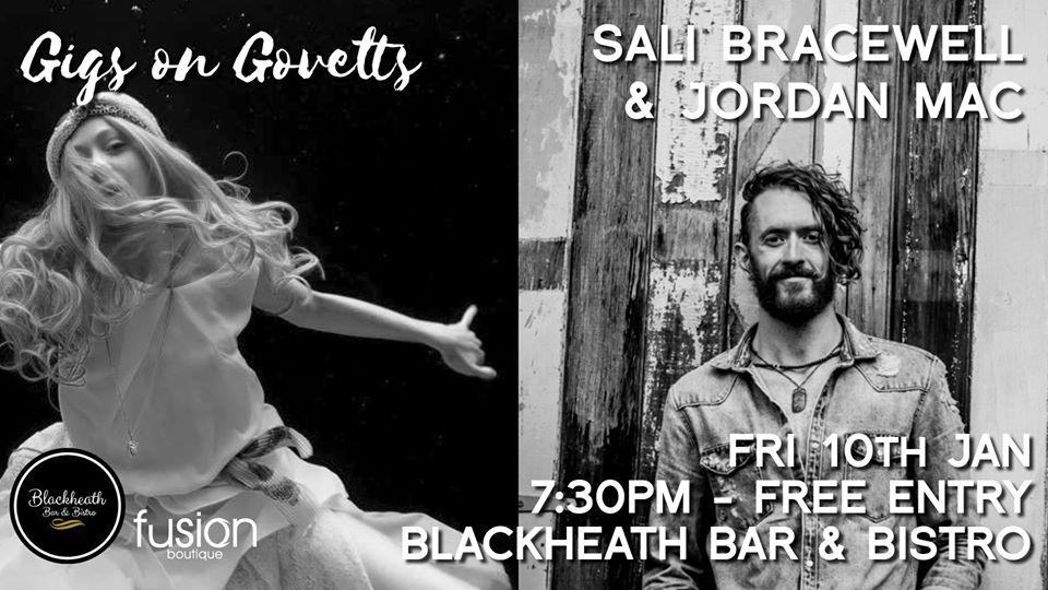 Gigs on Govetts – Sali Bracewell & Jordan Mac   Blackheath Bar & Bistro