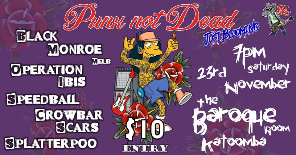 Punx Not Dead, Just Blooming, Katoomba | The Baroque Room