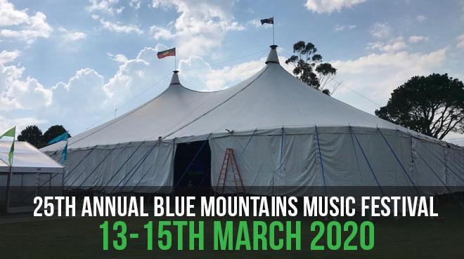 25th Annual Blue Mountains Music Festival | 13-15th March 2020