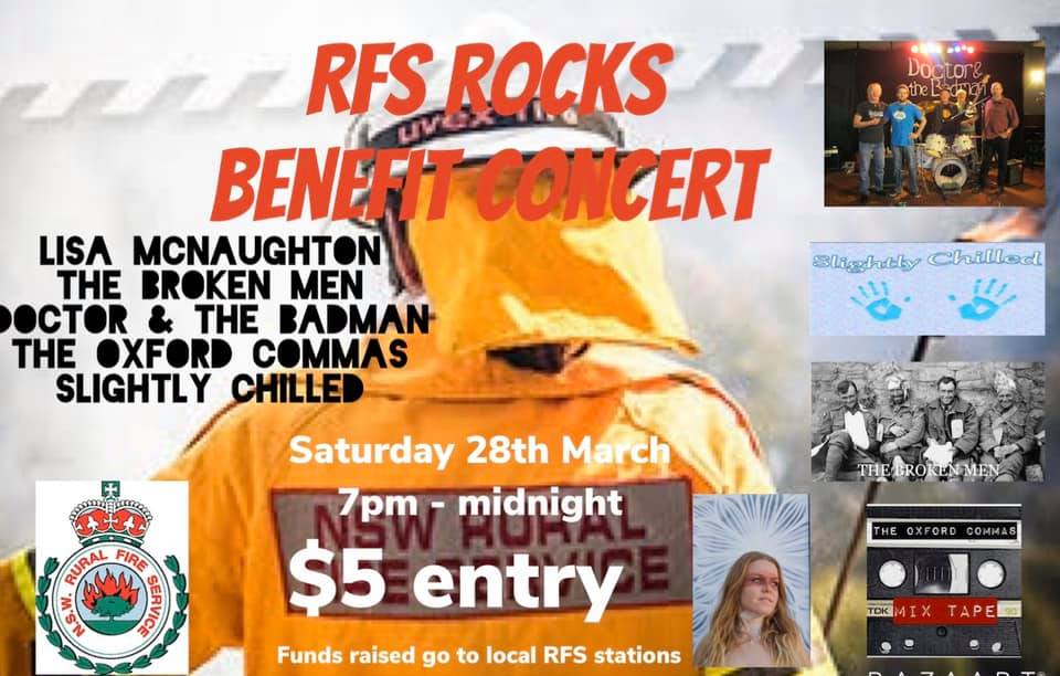 RFS Rocks – Benefit Concert | Lawson Bowling Club