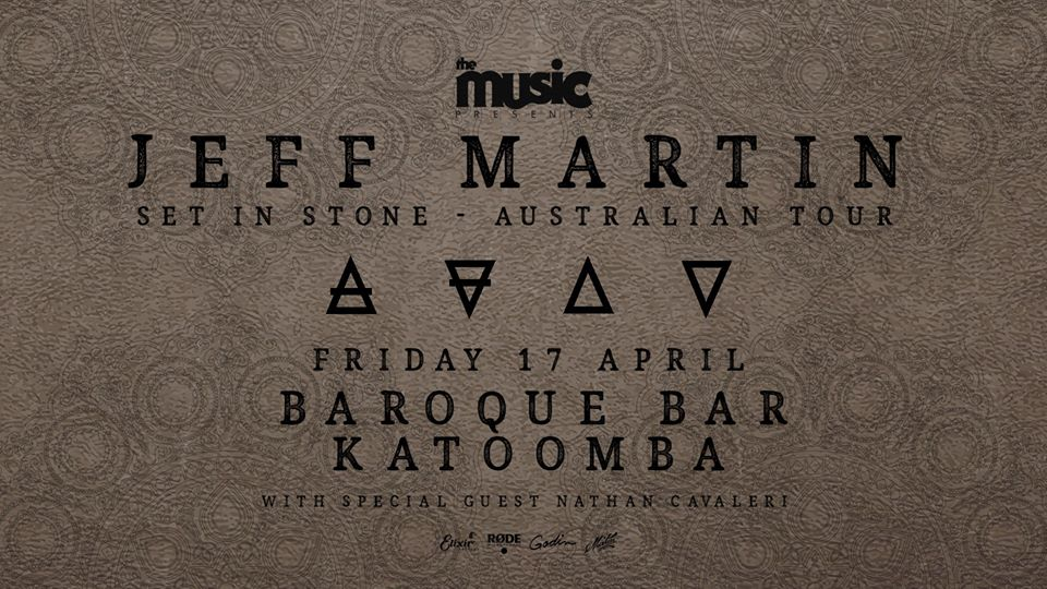 Jeff Martin - Baroque Bar - Set in Stone Australian Tour | The Carrington Hotel