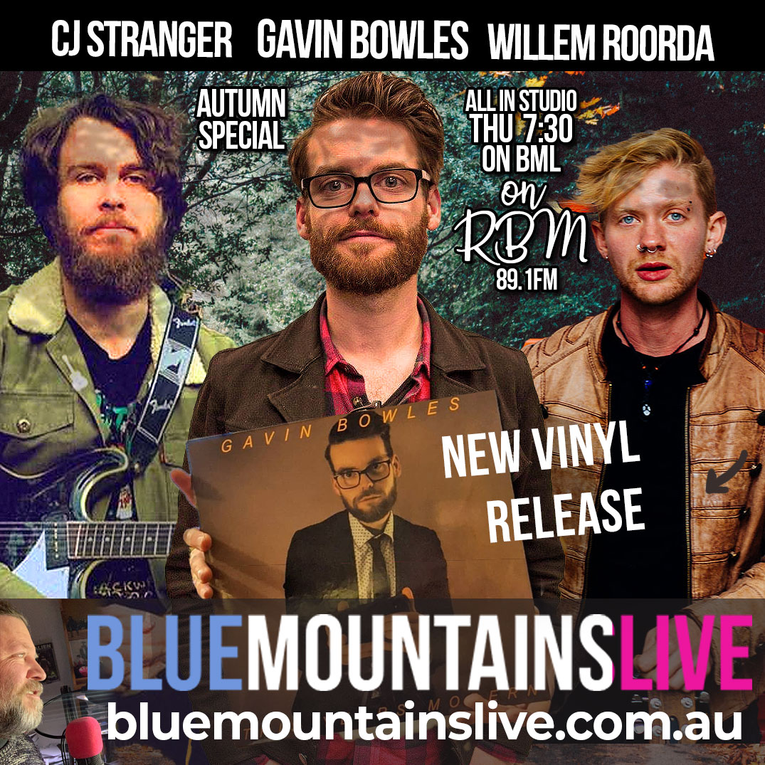 Blue Mountains Live | Gavin Bowles, CJ Stranger and Willem Sherlock Roorda Live in Studio!